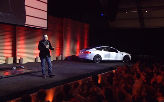Tesla battery swapping demonstration