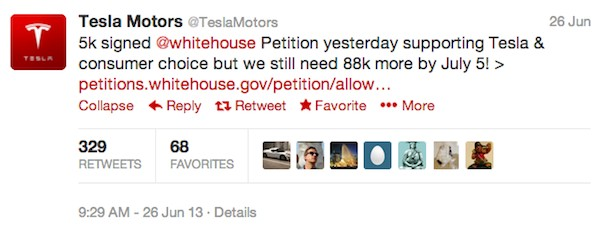 Tesla Motors Tweet