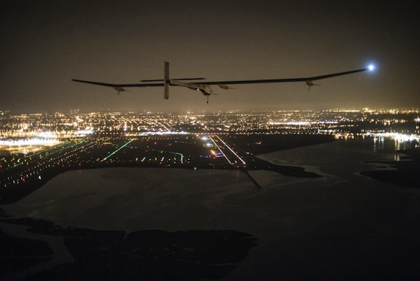 Solar Impulse on approach to JFK