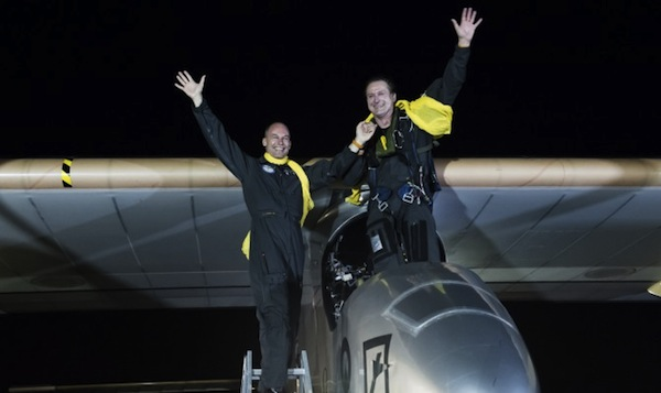 Solar Impulse crew at JFK