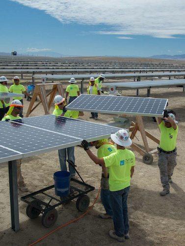 Sunpower solar installation