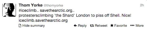 Thom York tweet