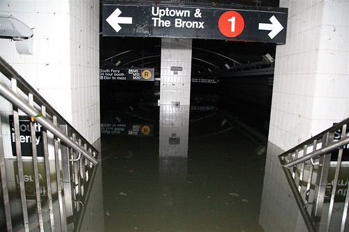 Flooded subway NYC