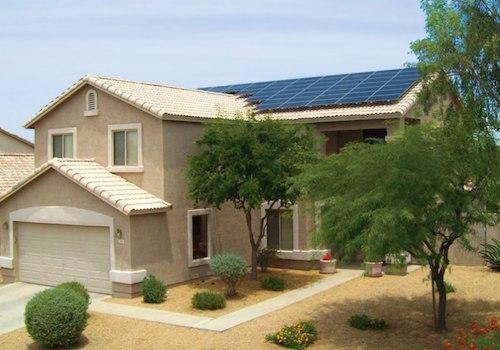 Rooftop solar panels, Lancaster