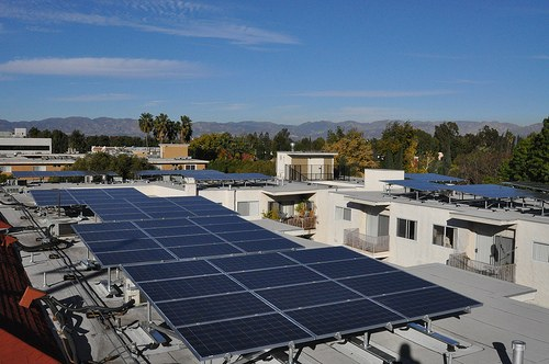Solar panels in California
