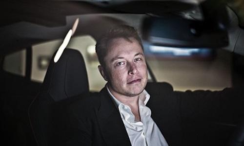Elon mush in a Model S