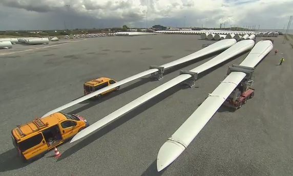 World's longest wind turbine blade