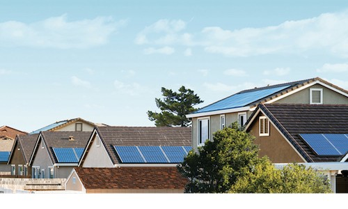 SolarCity rooftop solar panels