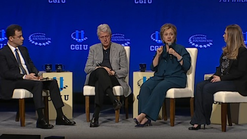 Clintons on Clinton Global Initiative panel