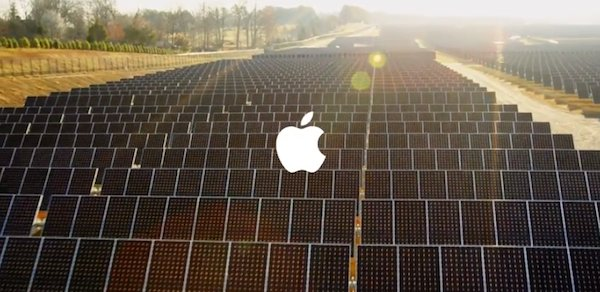 Some of Apple's solar panels