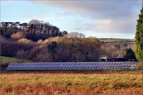 Solar farm, UK