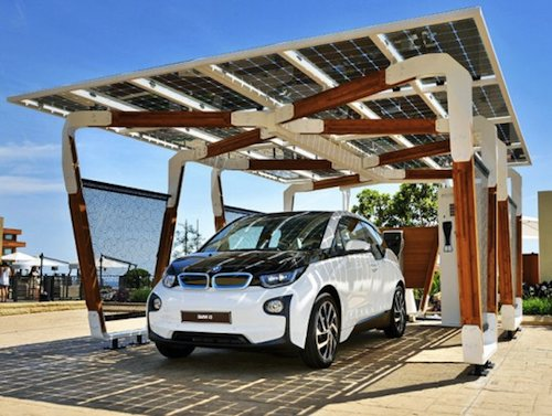 BMW solar-powered carport