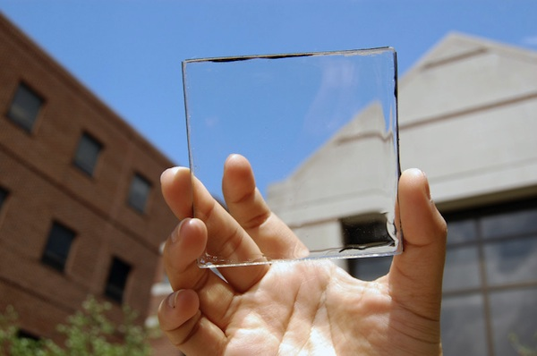 Transparent solar power concentrator