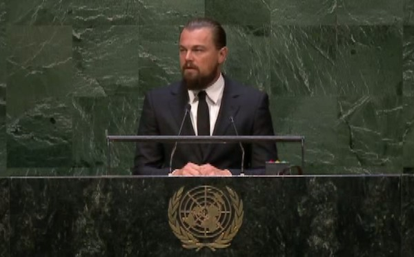 Leonardo DiCaprio at the United Nations